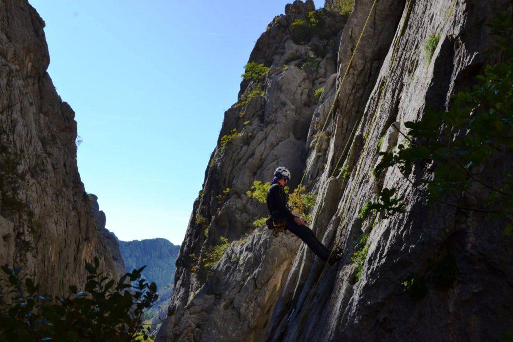 Paklenica National Park rock climbing for beginners in Croatia