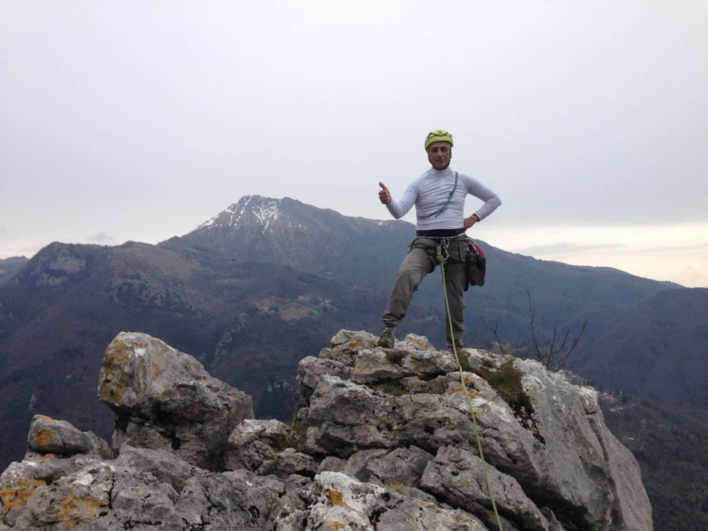 Climbing in the Apuan Alps in Tuscany